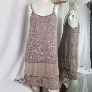 Kenar Beige Lace Dress